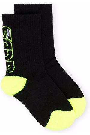 GCDS Socks - Logo intarsia socks