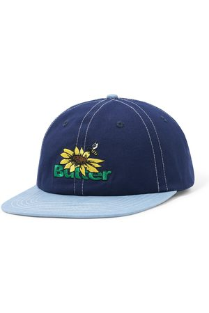 Butter Goods Sunflower 6 Panel Cap - Navy/Washed