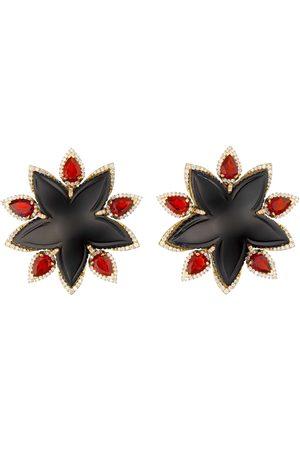 Guita M Jade and Fire Opal Starfish Earrings