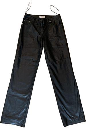 MATÉRIEL by Aleksandre Akhalkatsishvili Leather straight pants
