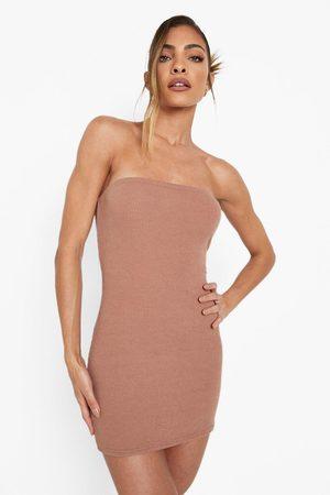 Boohoo Womens Crinkle Bandeau Mini Dress - - 4