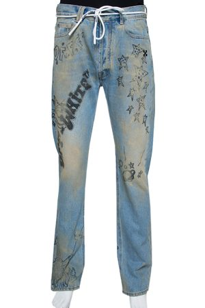 OFF-WHITE Wizard Extreme Bleach Denim Relaxed Fit Jeans M
