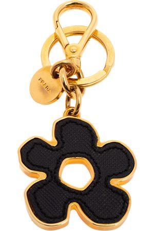 Prada Saffiano Leather Flower Bag Charm/Key Ring