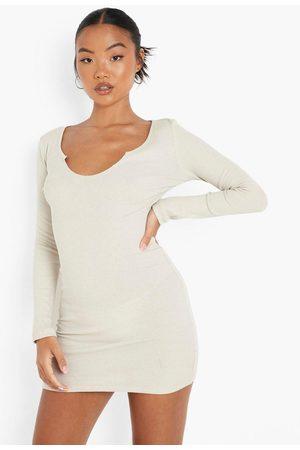 Boohoo Womens Petite Recycled Notch Detail Mini Dress - - 2