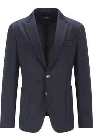 HUGO BOSS C-HANRY-J-214 Dark Slim-Fit Jacket In Micro-Patterned Stretch Jersey 50458705 404