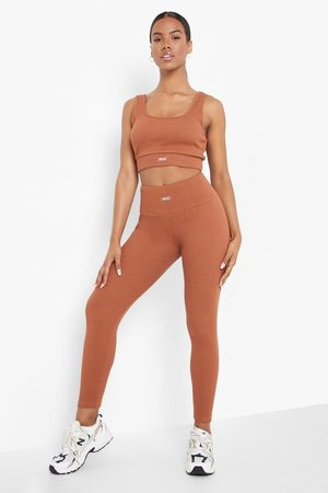 Boohoo Womens Ofcl Premium Ribbed Gym Leggings - - 2