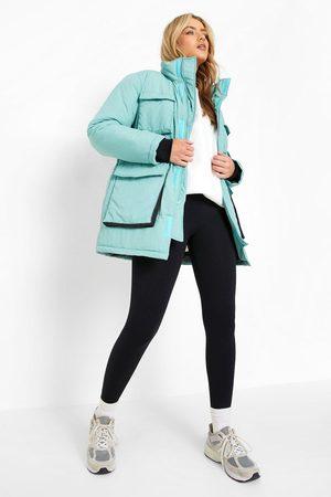 Boohoo Women Parkas - Womens Pocket Detail Parka Coat - - 4