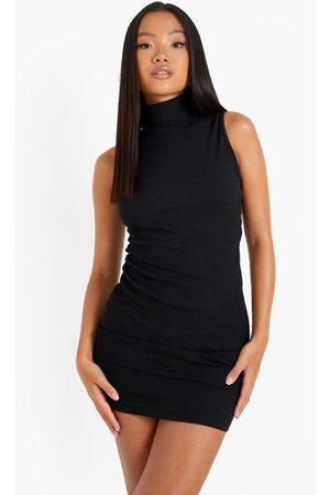 Boohoo Womens Petite Recycled Roll Neck Mini Dress - - 2