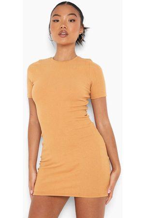 Boohoo Womens Petite Recycled Short Sleeved Mini Dress - - 2