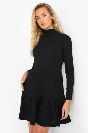 Boohoo Womens Roll Neck Long Sleeve Mini Dress - - 4