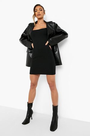 Boohoo Womens Crinkle Square Neck Mini Dress - - 4