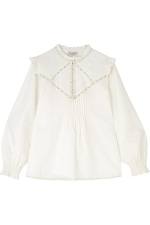 LILY AND LIONEL Faye Cotton Mix Top - Ivory