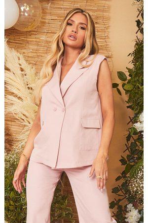 PRETTYLITTLETHING Women Blazers - Maternity Mauve Sleeveless Suit Blazer