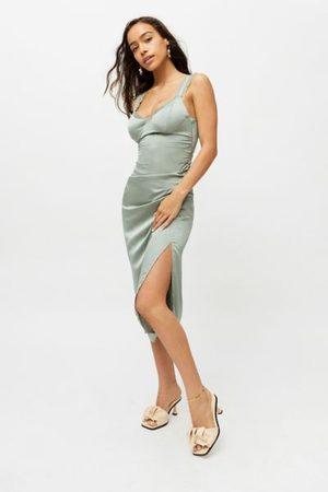 ASTR Ayla Satin Midi Slip Dress