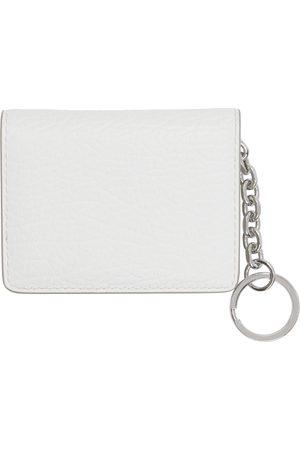 Maison Margiela Women Wallets - White Bifold Keychain Card Holder