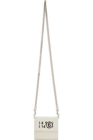 MM6 Maison Margiela White Logo Chain Wallet Bag