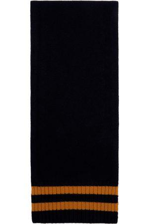 Maison Margiela Men Scarves - Navy & Orange Wool Stripes Scarf