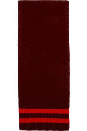 Maison Margiela Burgundy & Red Wool Stripes Scarf