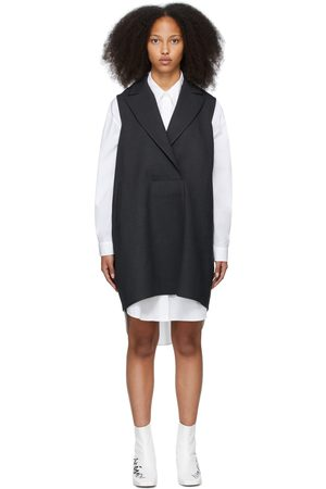 MM6 MAISON MARGIELA Grey Sleeveless Blazer Dress