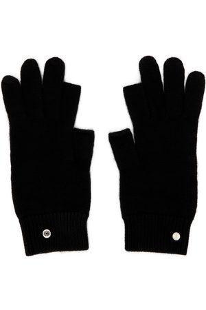 Rick Owens Men Gloves - Black Cashmere Touch Screen Gloves