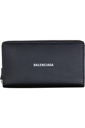 Balenciaga Black Cash Continental Wallet