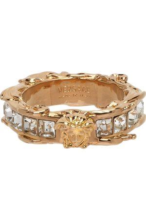 VERSACE Gold Medusa Crystal Ring