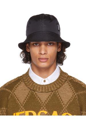VERSACE Men Hats - Black Nylon Bucket Hat
