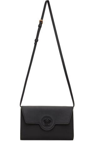 VERSACE Women Wallets - Black 'La Medusa' Long Wallet Bag