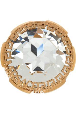 VERSACE Women Rings - Gold Big Crystal Ring
