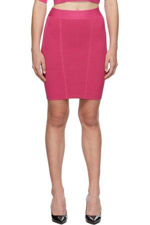 Herve Leger Pink Ottoman Miniskirt