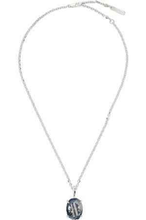 SWEETLIMEJUICE Men Necklaces - Oval Denim Necklace