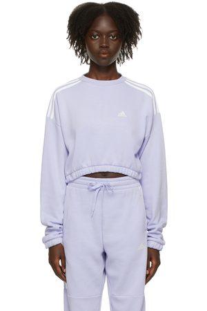adidas Purple Hyperglam Crop Crew Sweatshirt