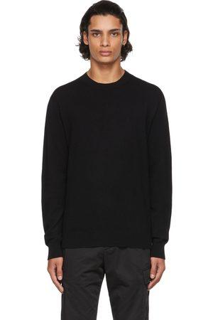 Agnona Men Sweatshirts - Black Cashmere Seamless Sweater