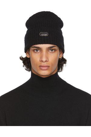 Agnona Black Cashmere Beanie