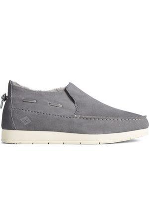 Sperry Top-Sider Men Flat Shoes - Men's Sperry Moc-Sider Suede Slip On Grey, Size 7M
