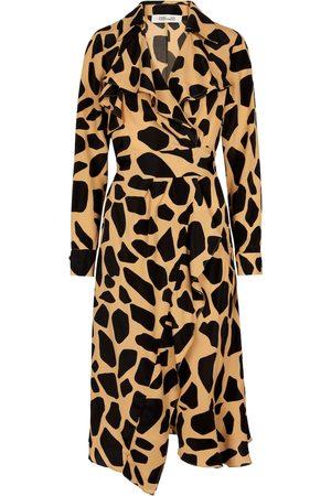 Diane von Furstenberg Eden silk-blend crêpe wrap dress