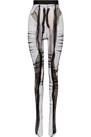 Y / PROJECT Lace-trimmed tights