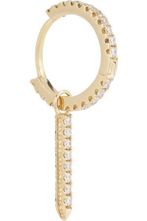 Maria Tash Eternity Bar 18kt single earring with diamonds and sapphires