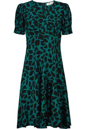 Diane von Furstenberg Alexis printed crêpe dress