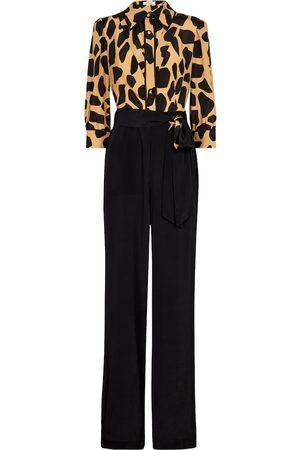 Diane von Furstenberg Blake printed silk-blend crêpe jumpsuit