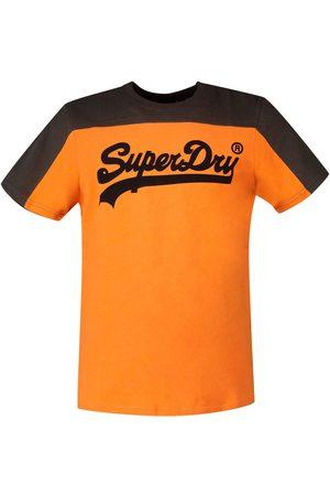 Superdry Vintage Logo Ac Colourblock Short Sleeve T-shirt XXL Spiced Orange