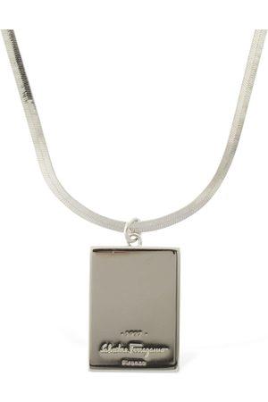 Salvatore Ferragamo Logo Plaque Necklace