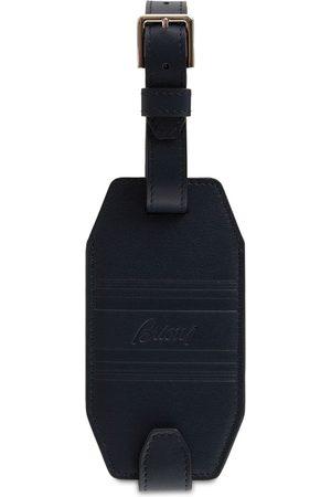 BRIONI Logo Leather Luggage Tag