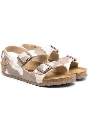 Birkenstock Camouflage-print sandals - Neutrals