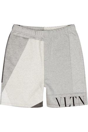 VALENTINO VLTN grey panelled shorts