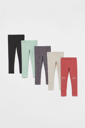 H&M 5-pack Cotton Leggings