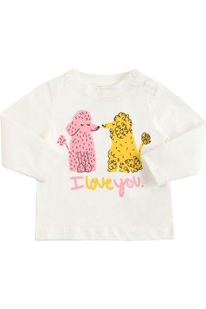 STELLA MCCARTNEY KIDS Poodle Print Cotton T-shirt