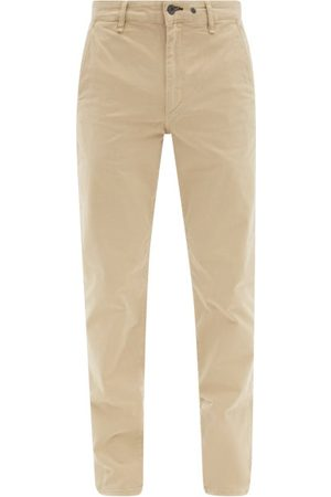 RAG&BONE Fit 2 Logo-embroidered Cotton-blend Chino Trousers - Mens