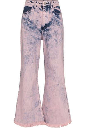 MARQUES'ALMEIDA Dyed flared cropped jeans