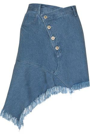 MARQUES'ALMEIDA Asymmetric denim miniskirt